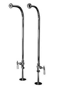 Barclay Products Limited Double Lever Handle Tub Filler Faucet with Goose neck B4052PL