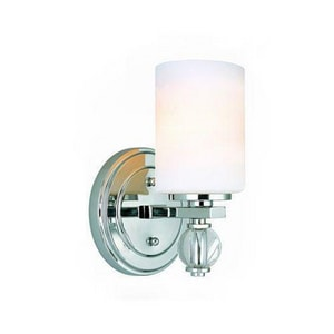 Troy-CSL Lighting Bentley 100 W 6 in. 1-Light Medium Wall Sconce in Polished Chrome TB1581PC