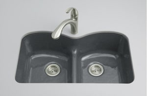 Kohler Langlade® 2-Bowl Undermount Kitchen Sink K6626-6U