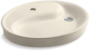 Kohler Wading Pool® Drop-In Bathroom Sink with Single Faucet Hole and Overflow K2354-1