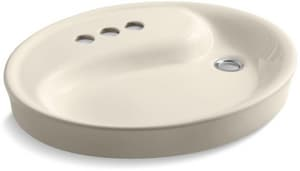 Kohler Wading Pool® Drop-In Bathroom Sink with 4-Faucet Hole and Overflow K2354-4