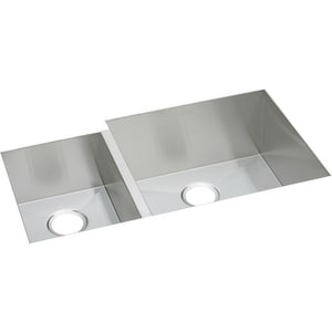 Elkay Avado™ 2-Bowl Undermount Kitchen Sink with Rear Center Drain EEFU352010L