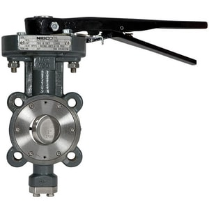 Nibco 150 psi Carbon Steel Lug High Performance Butterfly Valve Lever Operator NLCS6822