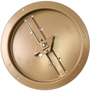 PROSELECT® Round Brown Steel Ceiling Damper PSRDR