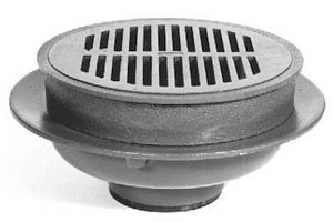 Zurn Industries 6-4/5 in. Neo-Loc Heavy Duty Floor Drain with Cast Iron Top ZZ541NL