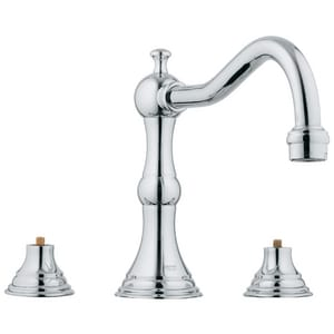 Grohe Bridgeford™ 13.2 gpm 3-Hole Deckmount Roman Tub Filler Faucet with Double-Handle G25079