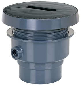 Sioux Chief Finish Line™ 6- 1/2 in. Diameter Adjustable Floor Drain SCH40 Hub Connection Top Rough-In Drain S8322PF