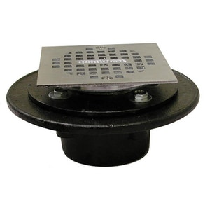 Jones Stephens 2 in. IPS Cast Iron Drain with 4 in. Adjustable Square Strainer JD60402