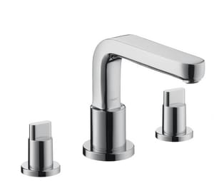Hansgrohe Metris™ 5.8 gpm 3-Hole Roman Tub Set Trim with Double Full Handle H31436