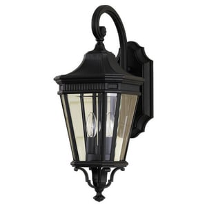 Murray Feiss Industries Cotswold Lane 9 in. 60W 2-Light Candelabra E-12 Incandescent Wall Lantern MOL5401