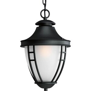 Progress Lighting Fairview 10-1/2 in. 100W 1-Light Medium Lantern in Black PP584831