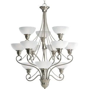 Progress Lighting Pavillion 34-3/4 in. 100W 12-Light Medium Incandescent Chandelier PP4604