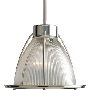 Progress Lighting 100 W 1-Light Medium Stem Mount in Brushed Nickel PP518209
