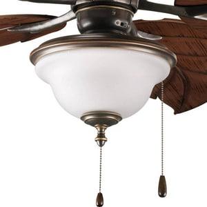 Progress Lighting Ashmore 60 W 2-Light Medium Fan Light Kit in Antique Bronze PP263620