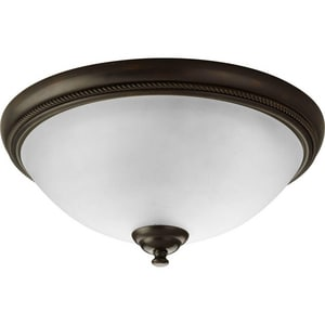 Progress Lighting Pavillion 75 W 2-Light Flush Mount Close-to-Ceiling Fixture Light PP3479