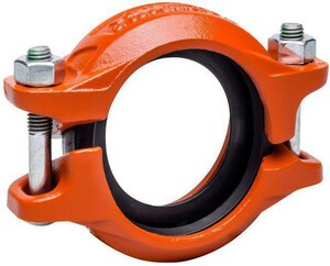 Victaulic Style 107 Painted Grooved Coupling with HP EPDM Gasket VL0107PE0