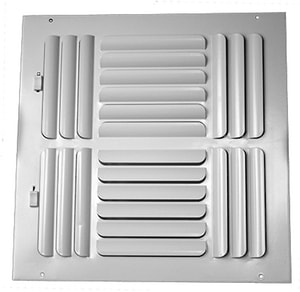PROSELECT® 8 x 8 in. Steel Ceiling/Sidewall Register in White PS4CWXX