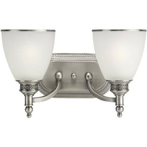 Seagull Lighting Laurel Leaf 7-1/4 in. 2-Light Bath Bar S44350