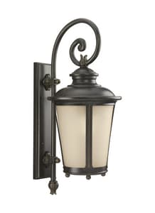 Seagull Lighting Cape May 11 in. 100 W 1-Light Wall Lantern in Iron S88242780