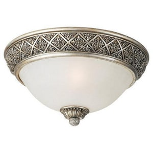 Seagull Lighting Highlands 8 in. 60 W 2-Light Flush Mount Ceiling Fixture S75250