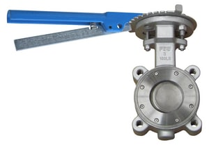 FNW 150# Stainless Steel RTFE Lug High Performance Butterfly Valve Lever Operator FNWHP1LSTL
