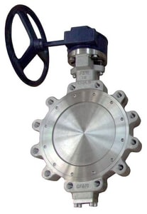 FNW 150 psi Carbon Steel RTFE Lug High Performance Butterfly Valve Gear Operator FNWHP1LCTG