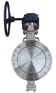 FNW 150 psi Flanged Carbon Steel Wafer Butterfly Valve with Gear Operator FNWHP1WCTG