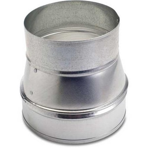 Royal Metal Products 18 in. 28 ga Galvanized Galvanized No-Crimp Tapered Reducer SHMRNC281816