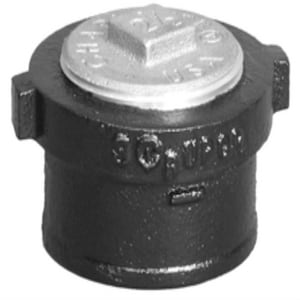 No-Hub Cast Iron Cleanout with Square Cut Plug NHCOS