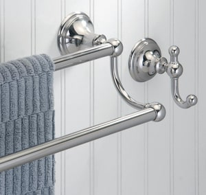 Gatco Laurel Avenue Double Towel Bar in Polished Nickel G4584