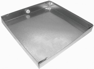 Royal Metal Products 24 x 24 in. 24 GA Drain Pan Less Fitting SHMDP242424ND