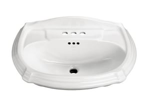 Kohler Memoirs® 1-Hole Pedestal Rectangular Bathroom Sink with Center Drain K2222-1