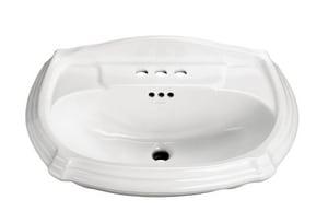 Kohler Portrait® 1-Hole Pedestal Rectangular Bathroom Sink with Center Drain K2222-1