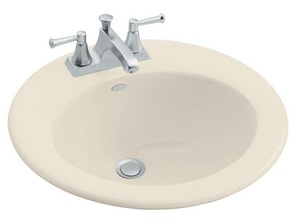Kohler Radiant® 1-Hole Oval Drop-In Bathroom Sink K2917-1