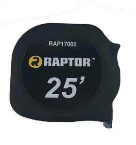 RAPTOR® Tape Measure Inch/Metric Black RAP17002