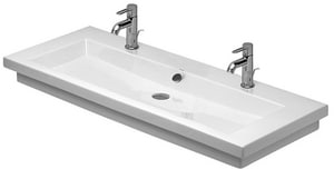 Duravit USA 2nd Floor 47-1/4 in. Single-Hole Ceramic Wall Mount Vanity Basin D04911200241