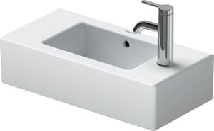 Duravit USA Vero™ 1-Hole Handrinse Left Hand Basin in White Alpin D07035000091