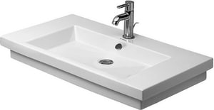 Duravit USA 2nd Floor 31-1/2 in. Single-Hole Ceramic Wall Mount Vanity Basin D04918000001