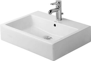 Duravit USA Vero™ 1-Hole Vessel Bathroom Lavatory Sink with Center Drain D045460601