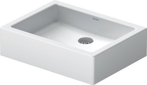 Duravit USA Vero® No-Hole Vessel Bathroom Lavatory Sink in White Alpin D04555000001