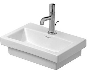 Duravit USA 2nd Floor 15-3/4 in. Single-Hole Ceramic Handrinse Basin White D07904000001