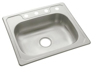 Sterling Plumbing Group Middleton® 25 x 22 x 6 in. Single Bowl Basin Kitchen Sink in Stainless Steel S146314NA
