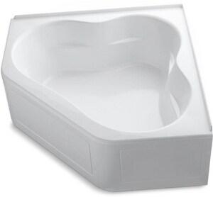 Kohler Tercet® 60 x 32 in. Tub and Shower with Left Hand Drain in White K1160-GLA-0
