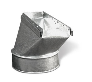 Lukjan Metal Products 2-1/4 x 6 in. Galvanized Straight Stack Boot SHMSSB214U
