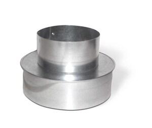 Lukjan Metal Products 8 x 6 in. Galvanized Cap Reducer No Crimp SHMCRNCXU