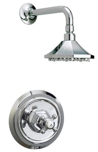 Mirabelle® Boca Raton Pressure Balancing Shower Trim Kit with Single Cross Handle and 1-Function Showerhead MIRBR1HS