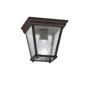 Kichler Lighting 100W 1-Light Medium Outdoor Semi-Flush Mount Ceiling Lantern KK9859