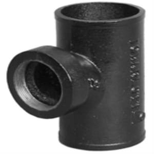 No-Hub x No-Hub x FNPT Cast Iron Sanitary IPT Tap on Pipe Reducing Tee NHTAPST