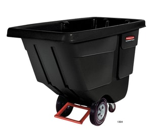 Rubbermaid Utility Duty Tilt Truck in Black RFG130400BLA