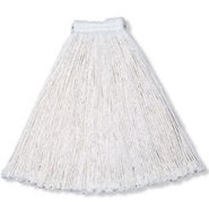 Rubbermaid Cut End Wet Mop Head in White RFGV10000